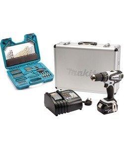 Makita DHP456RMWX 18v Li-ion 4.0Ah White Combi Drill + 105 Pce Accessory Set @ Lawson HIS