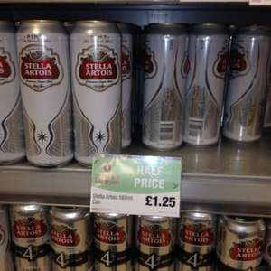 Stella big cans! Half Price @ £1.25, Scotmid/Co-Op stores