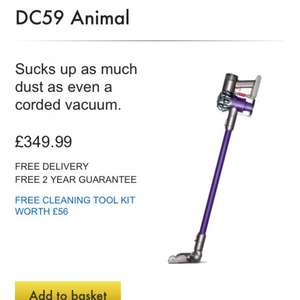 DYSON DC 59 £319.99 +free 4 tools and delivery call up offer only