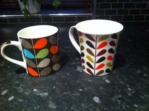 Orla Kiely style multi stem mugs £1 @ Poundworld