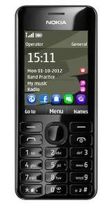 Nokia 206 SIM Free Mobile Phone - Black £29.95 @ AMAZON