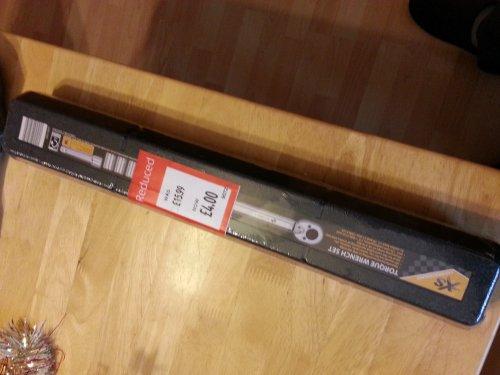 torque wrench - £4 instore @ ALDI