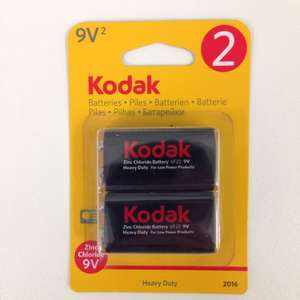 Two Pack of Kodak 9Volt Batteries, 97p in Poundland Dudley!