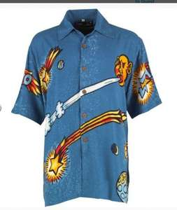 Mambo mens Happy shirt (blue) M&M Direct FREE Delivery poss. £6.64