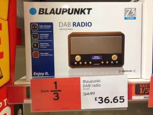 Blaupunkt DAB radio 1/3rd off in Sainsburys £36.65