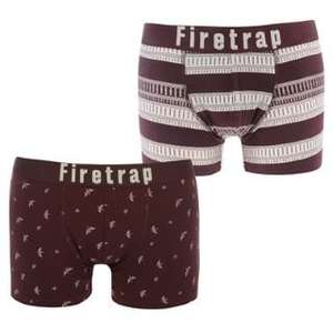 Firetrap 2 Pack Mens Trunks £5.99 Sportsdirect