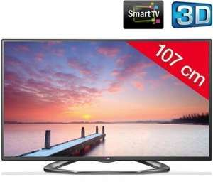 "LG 42LA620S 42"" FULL HD 3D LED Smart WiFi 200hz TV inc 4 pairs of glasses FREE DELIVERY AVAIL - Pixmania £429 + £14 discount code (code valid until 30/12/13)"
