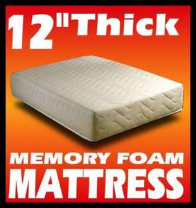 "12"" thick memory foam mattress 15 year guarantee £80.71 single del@ebay via allextras1 various other sizes"