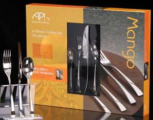 Arthur Price Kitchen 30 piece Mango cutlery set £53.40 @ Amazon