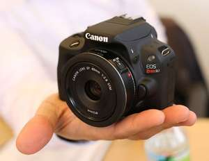 Canon EOS100D With 18-55mm III DC Lens Kit for only £379.95 + £40 cashback from Canon- Ask Direct In-Store