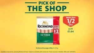 12 Thick Richmond Sausages 681g £1.64 (reduced from £3.50) @ Morrisons