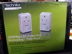 Technika 200mb powerline homeplugs - £10 @ Tesco instore