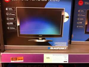 "Blaupunkt 21.5"" HD LED TV with DVD at Sainburys in store only"