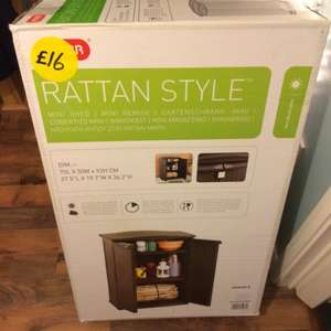 Keter Rattan Style Mini Plastic Shed - Anthracite tesco instore £16
