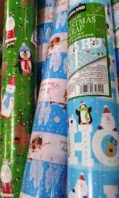 Costco Instore Reversable Wrapping Paper 49M £2.34