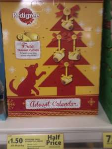 Pedigree Dog Advent Calender with Dog training clicker now half price at Tesco £1.50