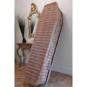 Wicker/Willow coffin.. Down from £380 for those who wouldn't be seen dead in a cardboard one! £145 @ Coffin Company