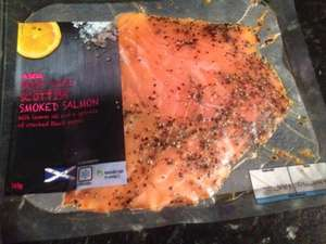 Smoked salmon with lemon oil and cracked black pepper, 140g for £2 at Asda
