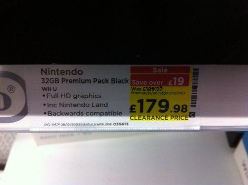 Nintendo Wii U Premium Black @ Currys/PC World £179.98