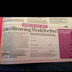 Join Slimming World for free! when buying Womans Magazine 95p
