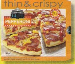 Farmfoods Thin & Crispy Peppperoni Pizza 3 for £2.00