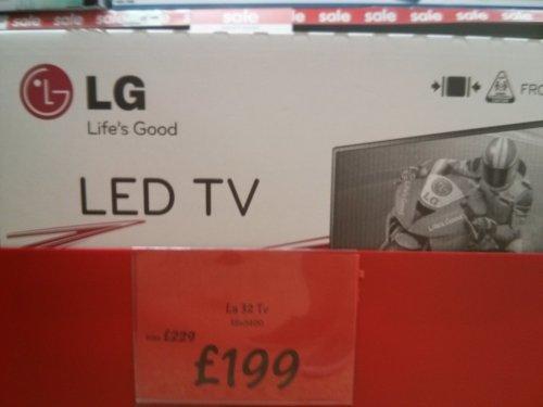 LG 32 inch (80cm) LED TV £199 @ Asda