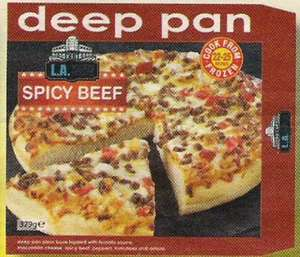 Farmfoods Deep pan Spicy Beef Pizza 3 for £2.00