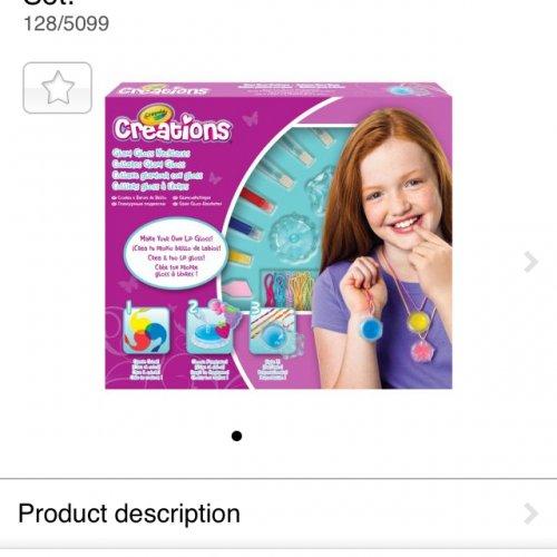 Crayola creations lip gloss making kit at Argos