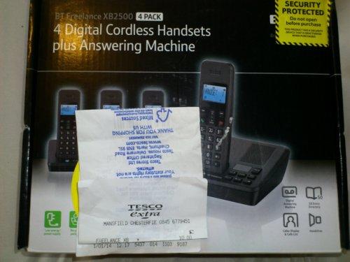 BT Freelance XB2500 Quad Telephone and answering machine. £10 TESCO