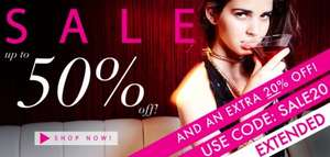 Sale at Rare Fashion plus a 20% off code. Free delivery over £50.
