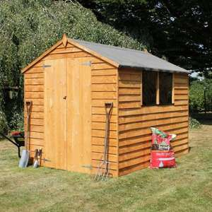 8 x 6 Waltons Overlap Apex Wooden Shed  £199.95 Free Delivery** @ Walton's