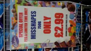 Cadburys Misshapes £2.99 at Cadburys Outlet, East Midlands Designer Outlet