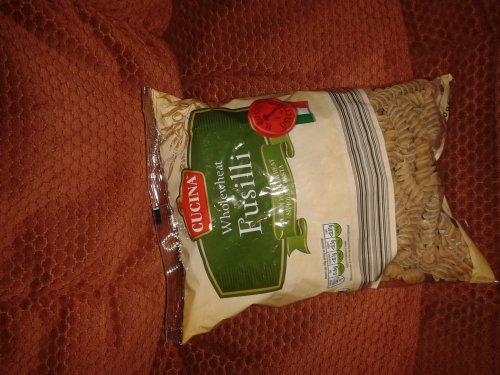 Aldi 500g wholewheat fusilli and spaghetti 59p