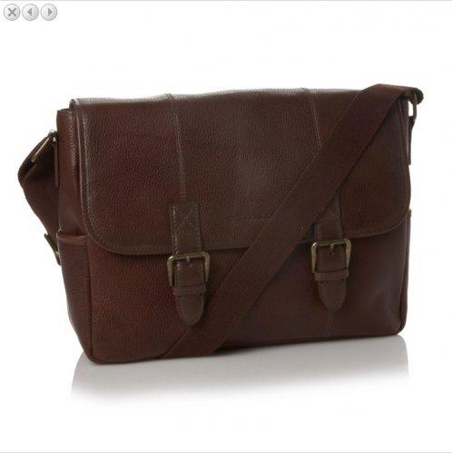 Debenhams John Rocha Dark brown leather satchel bag 60% off – NOW £48