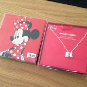 Minnie Mouse necklace £1 from poundland. Perfect for valentines day
