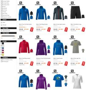 Lots of Salomon items on sale at Ellis Brigham.
