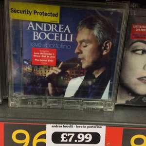 Andrea Bocelli - Love In Portofino CD+DVD £7.99 Sainsburys