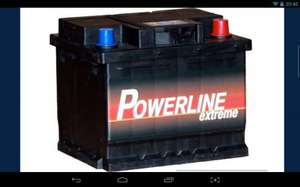 Powerline 12V Car Battery -  £31.50 delivered! @ Tayna