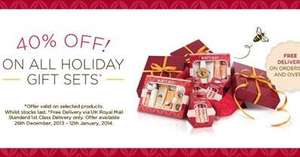 Burt's Bees UK 40% off Holiday Gifts hurry Limited Stock