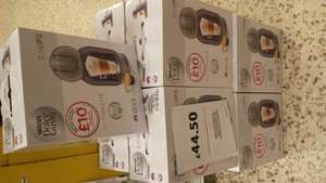 Dolce gusto purple coffee machine krups £44.50 instore @ Tesco with £10 pod voucher