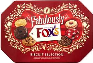 Fox's fabulously biscuit selection tin - 650g £1.25 instore at ASDA