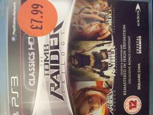 Tomb raider trilogy ps3 for £7.99 at sainsbury instore