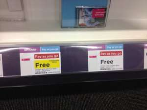 TMobile Pay As You Go SIM card with £5 credit free @ Currys instore