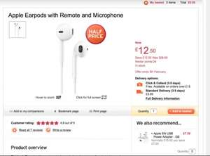 Apple Earpods with remote and microphone for only £12.50 @ Sainsburys