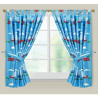 Boys Transport Bedding (£2.50) and Transport Curtains (£4) @ Asda