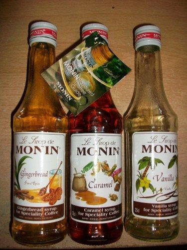 Monin Gingerbread, Vanilla, Caramel Coffee Syrups £2.49 each @Tesco