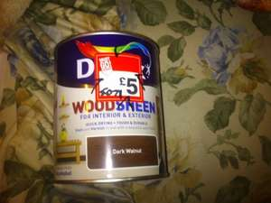 Dulux wood sheen stain and varnish in one for £5 at b & q