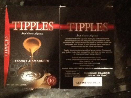 Tipples x10 pack (10x20 ml Irish Cream Liqueurs brandy & amaretto) £1.49 @ Aldi