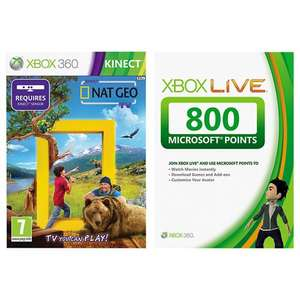 Nat Geo Kinect + 800 MS Points for Xbox 360 - £12 @ John Lewis