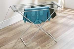 Heated clothes airer £29.99 free delivery from Groupon